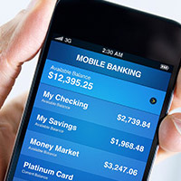 Mobile Banking app graphic